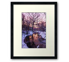 Pink river Framed Print
