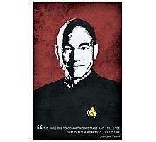 Star Trek TNG, Jean Luc Picard - Portrait Poster Photographic Print