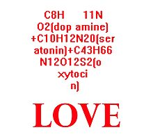 The Chemical Formula of Love Photographic Print