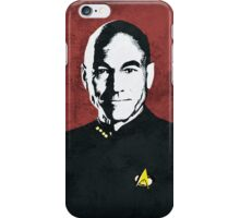 Star Trek TNG, Jean Luc Picard - Portrait Poster iPhone Case/Skin