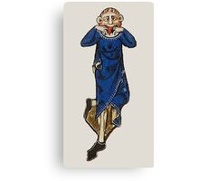 Wag grimace (medieval) Canvas Print