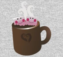 Cute Hot Chocolate with marshmallows One Piece - Long Sleeve