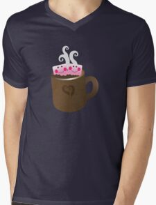 Cute Hot Chocolate with marshmallows Mens V-Neck T-Shirt