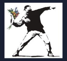 Flower Thrower - Banksy One Piece - Short Sleeve