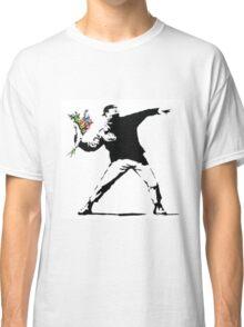 Flower Thrower - Banksy Classic T-Shirt