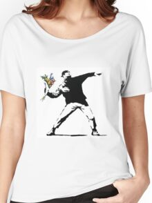 Flower Thrower - Banksy Women's Relaxed Fit T-Shirt