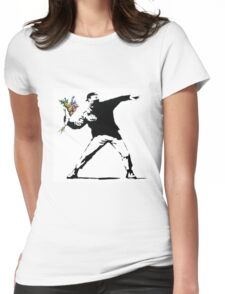 Flower Thrower - Banksy Womens Fitted T-Shirt