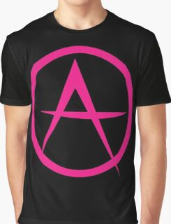 HOT PINK ANARCHY symbol Graphic T-Shirt