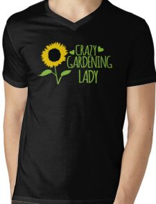Crazy Gardening Lady Mens V-Neck T-Shirt