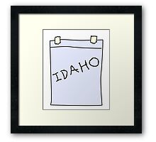 Idaho costume Framed Print