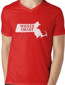 Wicked Smaht Masshole Mens V-Neck T-Shirt
