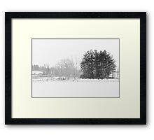 Black White Winter cold day Framed Print