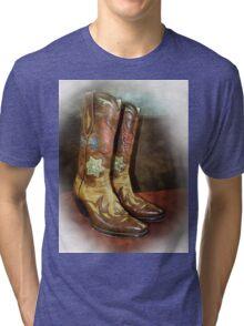 Take A Walk in My Boots Tri-blend T-Shirt