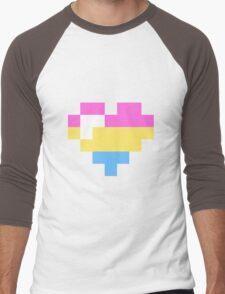 Little Pansexual heart Men's Baseball ¾ T-Shirt