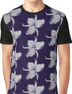 Purple Orchid Flower watercolor Graphic T-Shirt