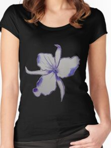 Purple Orchid Flower watercolor Women's Fitted Scoop T-Shirt