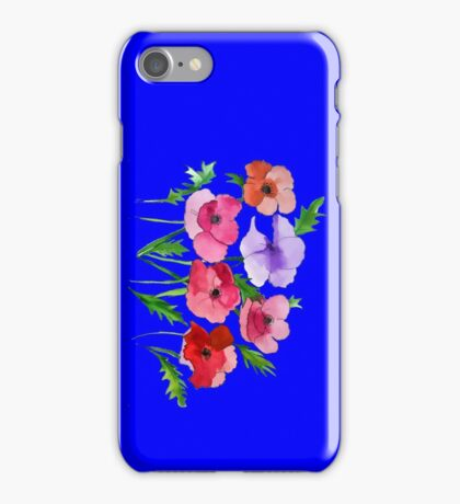 Poppies Amapolas Hand-painted Watercolor iPhone Case/Skin