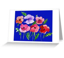 Poppies Amapolas Hand-painted Watercolor Greeting Card