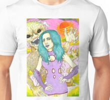 Space Girl and the planet of the dune devils Unisex T-Shirt