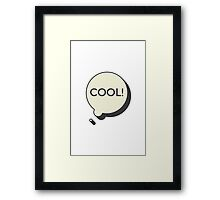 COOL BUBBLE Framed Print