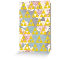 Yellow Triangles Greeting Card