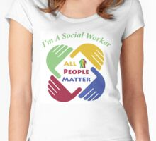 I'm A Social Worker Women's Fitted Scoop T-Shirt