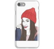 winter girl iPhone Case/Skin