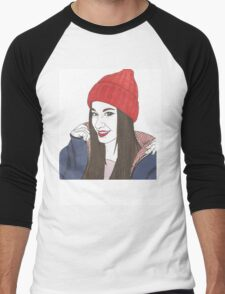 winter girl Men's Baseball ¾ T-Shirt