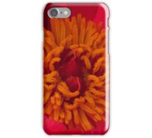 Pink Peony Stamen Macro iPhone Case/Skin