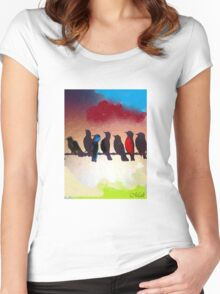 Birds of a Flock Women's Fitted Scoop T-Shirt