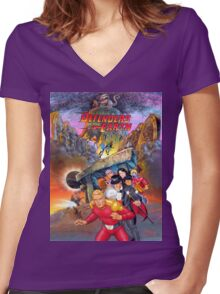 Defenders of the Earth Women's Fitted V-Neck T-Shirt