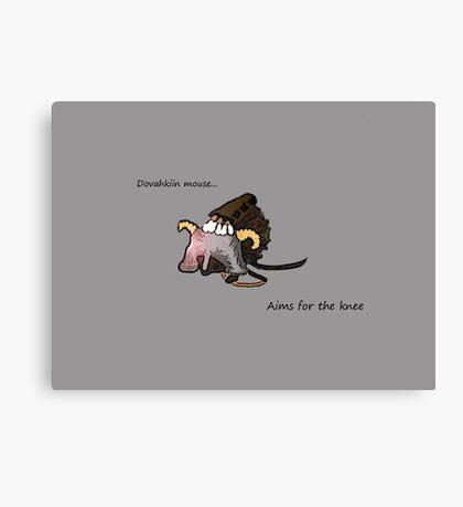 Dovahkiin Mouse Canvas Print