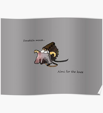 Dovahkiin Mouse Poster