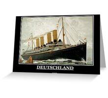 Deutschland 1900 Ship Greeting Card