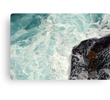 Water Washing Over Rocks Canvas Print