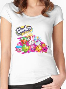 Shopkin Squad 2 Women's Fitted Scoop T-Shirt