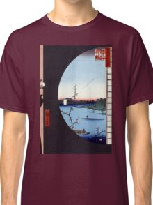 Hiroshige View From Massaki of Suijin Shrine, Uchigawa Inlet, and Sekiya Classic T-Shirt