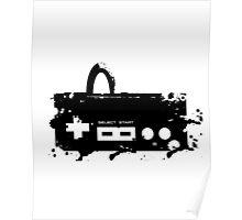 Paint Splat NES Controller Poster