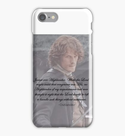 Outlander/Jamie Fraser/Highlander iPhone Case/Skin