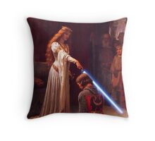 Knighthing in Light Throw Pillow