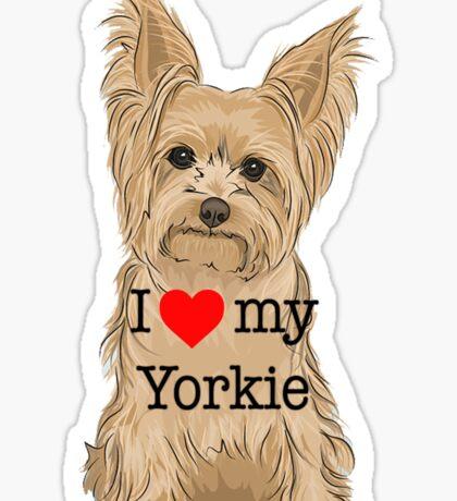 I Love my Yorkie Sticker