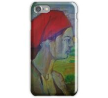 Woman with red headband  iPhone Case/Skin