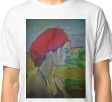Woman with red headband  Classic T-Shirt