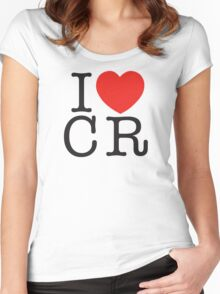 I <3 CRITICAL ROLE (CR) - Black Women's Fitted Scoop T-Shirt