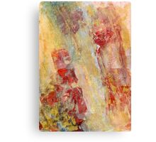Earth Patterns 2 -  Dry Waterfall Mixed Media Painting  Canvas Print