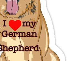 I Love my German Shepherd Sticker