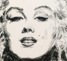 Marilyn, Black and White Sticker