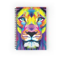 Painted Lion Spiral Notebook