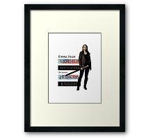 Emma Swan: Saviour Framed Print