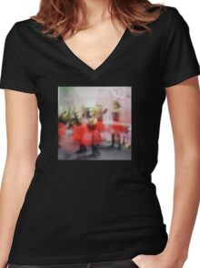 My Dancing Queen Women's Fitted V-Neck T-Shirt